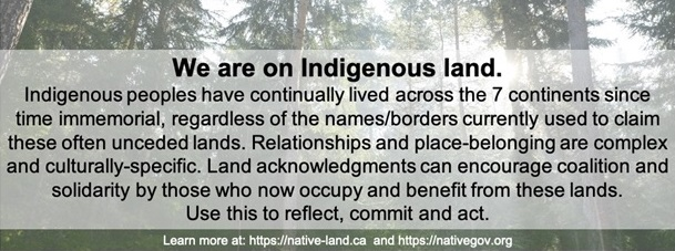 we are on indigenous land